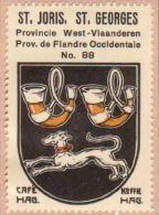 Wapenzegel Koffie Hag / Vignette (Blason, Armoiries) Café Hag : Sint-Joris - Old Paper