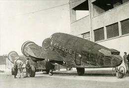 France Le Havre Aviation Avion De Transport US Régie Française Ancienne Photo De Presse 1939 - Aviation