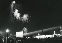Canada Toronto Exposition Nationale Canadienne Vue De Nuit Feu D'Artifice Ancienne Photo 1950 - Photographs