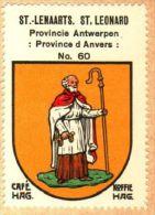 Wapenzegel Koffie Hag / Vignette (Blason, Armoiries) Café Hag : Sint-Lenaarts - Old Paper