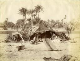 Algérie Sahara Oasis Biskra Campement Nomades Ancienne Photo Neurdein 1890 - Africa