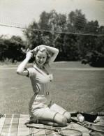 Cecilia Parker Fait Une Partie De Badminton MGM Photo 1932 - Famous People