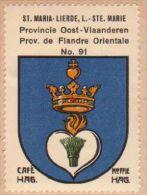 Wapenzegel Koffie Hag / Vignette (Blason, Armoiries) Café Hag : Sint-Maria-Lierde - Old Paper