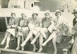 Paquebot Ile De France Dance American Beauties Dancers Ancienne Photo 1930