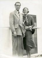 Paquebot Ile De France M & Mme Valentin Parera Grace Moore Ancienne Photo 1932 - Boats