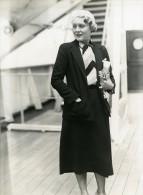 Paquebot Ile De France Vilma Banky Miss Rod La Rocque Ancienne Photo 1932