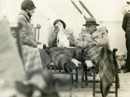 Paquebot Ile De France Homme D'Etat Frank Kellogg & Chien Dalmatien Ancienne Photo 1932