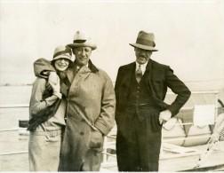 Paquebot Ile De France Gouverneur De New York Al Smith Ancienne Photo 1928 - Boats