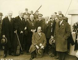 Paquebot Ile De France Commandant Blancart Maire De Plymouth Mitchell Ancienne Photo 1930