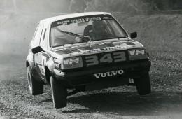 Belgique Voiture Rallye Course Volvo 343 Ancienne Photo Vanderhaegen 1982
