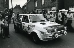 Belgique Ypres Voiture Rallye Course Fiat Ritmo 75 Plas Nijs Ancienne Photo Vanderhaegen 1981