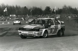 Belgique Voiture Rallye Rallycross Course Audi Quattro Franz Wurz Ancienne Photo Vanderhaegen 1982 - Cars