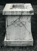 Grece Olympe Autel De La Flamme Olympique Jeux De Moscou Ancienne Photo 1980 - Sport