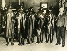 USA Californie Orange Nouveau Costume Des Pompiers Ancienne Photo 1935 - War, Military