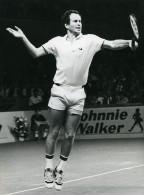 Belgique Anvers Tournoi De Tennis John McEnroe Ancienne Photo Van De Velde 1985 - Sports