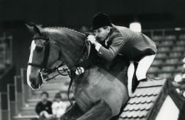 Belgique Bruxelles Cheval Saut D'Obstacle Malcolm Pyrah Ancienne Photo Vanderhaegen 1985 - Sports