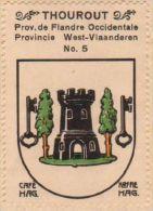 Wapenzegel Koffie Hag / Vignette (Blason, Armoiries) Café Hag : Torhout (type 2) - Old Paper