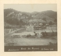 Roumanie Pont De Proieni En Construction Photo Anonyme Ancienne 1899 - Photographs