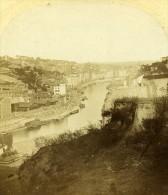 Quai Saint Vincent Rhone Saone Lyon France Ancienne Photo Stereo 1858 - Photos Stéréoscopiques