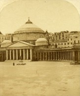 Basilique Saint Francois Naples Italie Ancienne Stereo Photo Alexis Gaudin 1859 - Stereoscopic