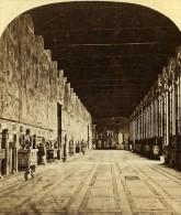 Campo Santo Galerie Grande Pise Italie Ancienne Stereo Photo Alexis Gaudin 1859 - Stereoscopic