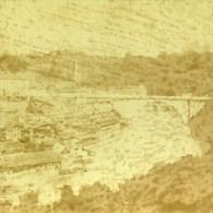 Panorama Pris De La Route De Thonne Berne Suisse Ancienne Photo Stereo 1859 - Stereoscopic