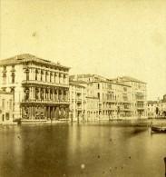Palais Foscari Venise Italie Ancienne Photo Stereo 1859 - Stereoscopic