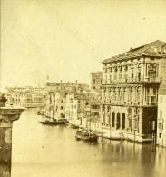 Palais Widman Venise Italie Ancienne Photo Stereo 1859 - Stereoscopic