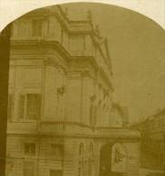 Theatre De La Scala Milan Italie Ancienne Photo Stereo Ca1859 - Stereoscopic