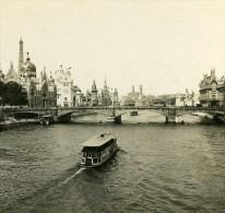 Vue Prise Du Pont Alexandre III Exposition Universelle Paris France Ancienne Stereo Photo 1900 - Stereoscopic