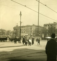 Allemagne Hambourg Place De La Mairie Ancienne Stereo Photo NPG 1900 - Stereoscopic