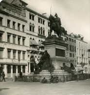 Italie Venise Statue De Victor Emmanuel Ancienne Photo Stereo NPG 1900 - Stereoscopic