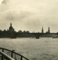 Allemagne Dresde Panorama Elbe Ancienne Stereo Photo Stereoscope NPG 1900 - Photos Stéréoscopiques