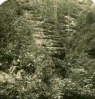 Allemagne Suisse Saxonne Schwedenlöchern Ancienne Stereo Photo Stereoscope NPG 1900 - Stereoscopic