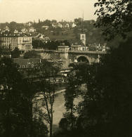 Suisse Berne Pont Nydeck Ancienne Stereo Photo Stereoscope NPG 1900 - Stereoscopic