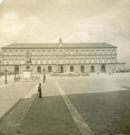Italie Napoli Naples Palais Royal Ancienne Stereo Photo Stereoscope NPG 1900 - Stereoscopic