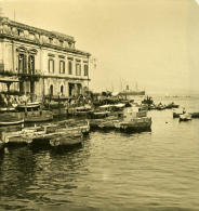 Italie Napoli Naples Port Marchand Ancienne Stereo Photo Stereoscope NPG 1900 - Stereoscopic
