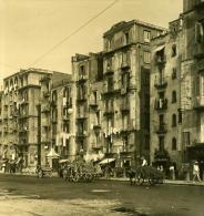 Italie Napoli Naples Basso Porto Ancienne Stereo Photo Stereoscope NPG 1900 - Stereoscopic