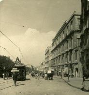 Italie Napoli Naples Place Cavour Ancienne Stereo Photo Stereoscope NPG 1900 - Stereoscopic