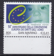 San Marino 2000 European Human Rights 1v  ** Mnh (21311) - Europäischer Gedanke