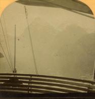 Alpes Suisse Lac Des Quatre-Cantons Ancienne Stereo Photo Gabler 1885 - Stereoscopic