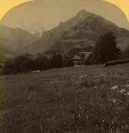 Alpes Suisse Frutingen Ancienne Stereo Photo Gabler 1885 - Stereoscopic