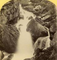 Alpes Suisse Cascade De Kander Vallee De Gastern Ancienne Stereo Photo Gabler 1885 - Stereoscopic