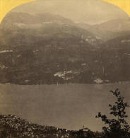 Alpes Suisse Brienz Ancienne Stereo Photo Gabler 1885 - Stereoscopic