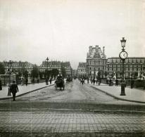France Paris Tuileries Pont Instantané Ancienne Stereo SIP Photo 1900 - Stereoscopic