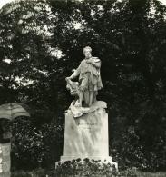 Autriche Vienne Parc Statue Denkmal Ancienne Photo Stereo NPG 1900 - Stereoscopic