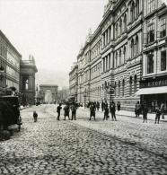 Autriche Hongrie Prague Rue Ferdinand Ancienne Photo Stereo NPG 1900 - Stereoscopic