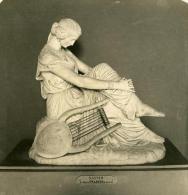 France Paris Musée Du Louvre Sculpture De Pradier Ancienne Photo Stereo NPG 1900 - Stereoscopic