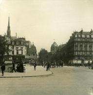 France Paris Instantanée Place Saint Michel Ancienne Photo Stereo NPG 1900 - Stereoscopic