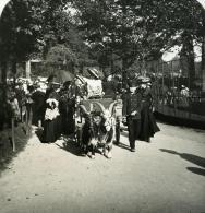France Paris Instantanée Voiture Aux Chevres Ancienne Photo Stereo NPG 1900 - Stereoscopic